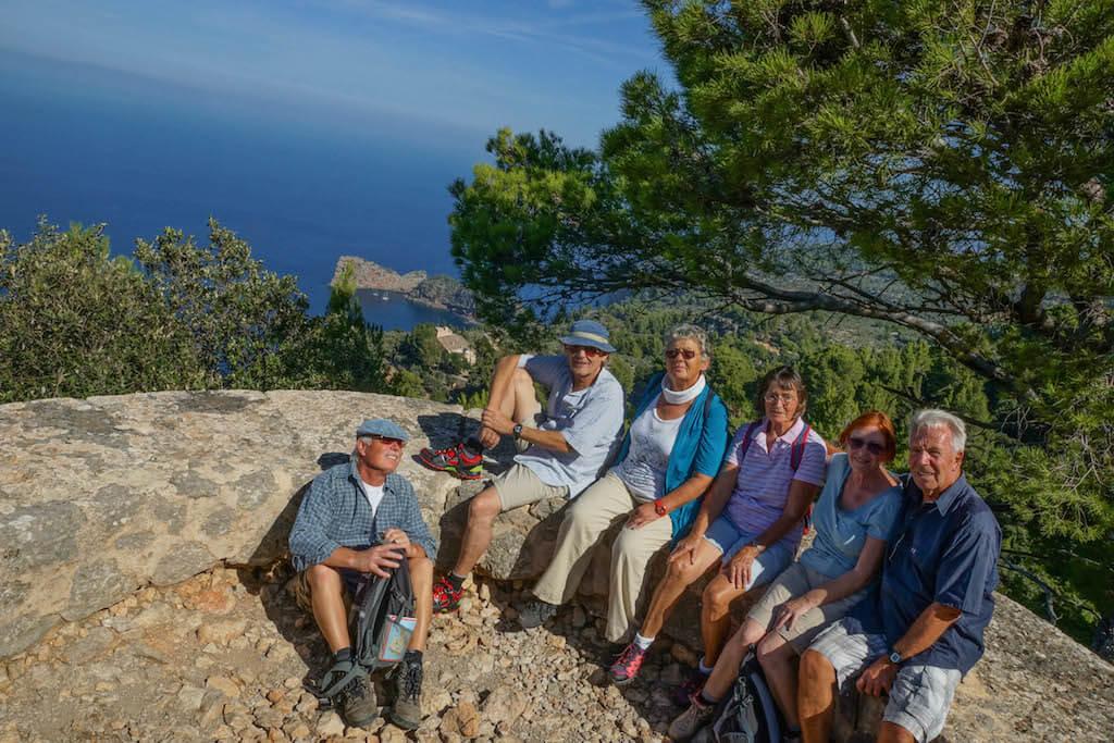 Unsere Wandergruppe auf dem Mirador des Tudons