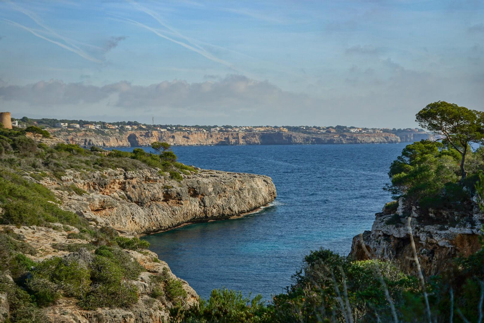 Blick auf die Südküste Mallorcas
