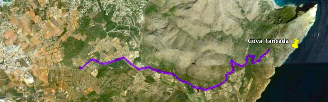 Wegbeschreibung zur Cova Tancada