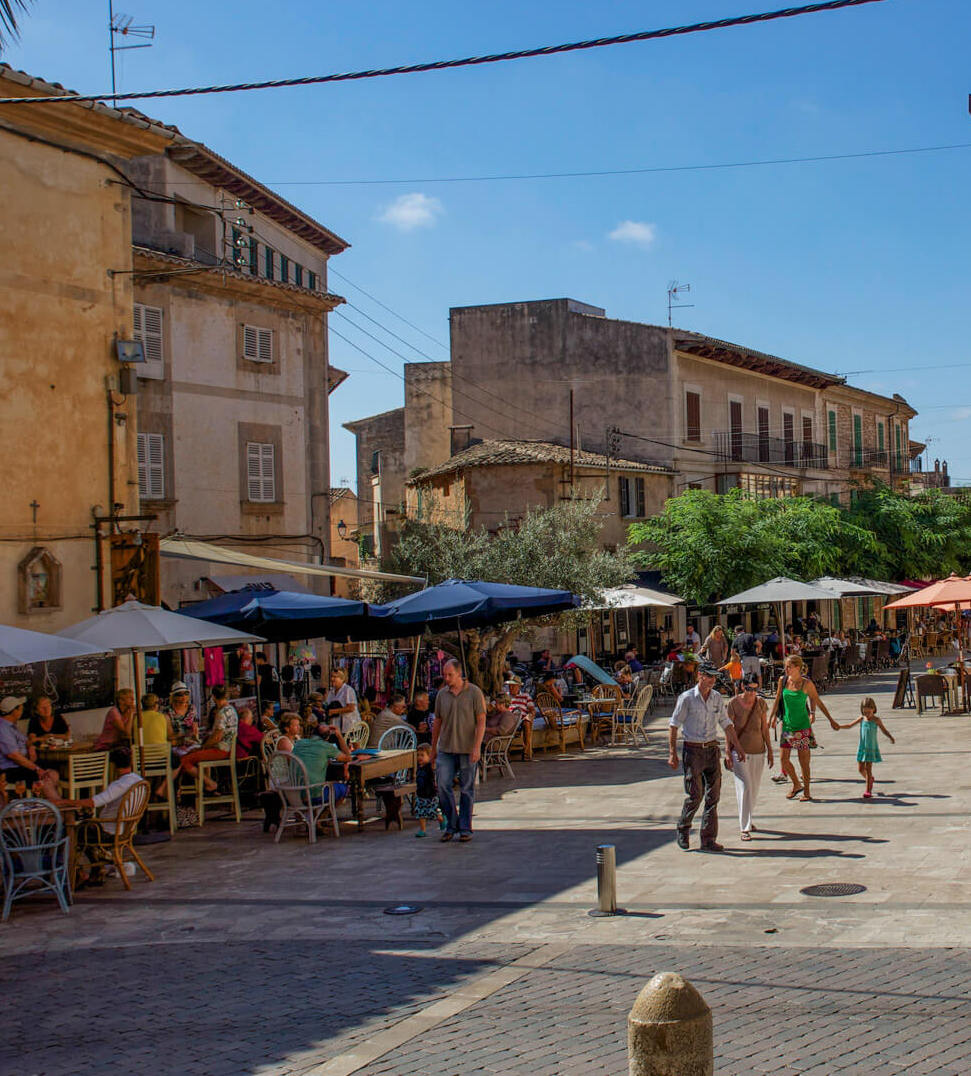Hauptplatz in Santanyi Mallorca