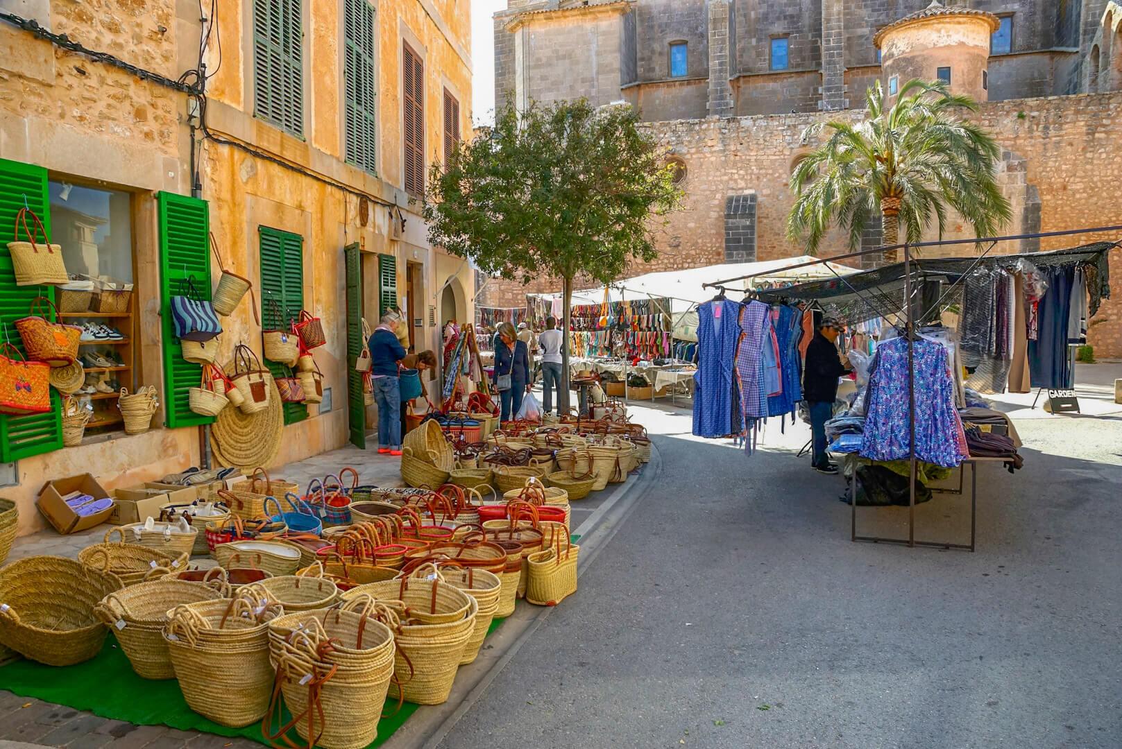Wochenmarkt Santanyi mallorca