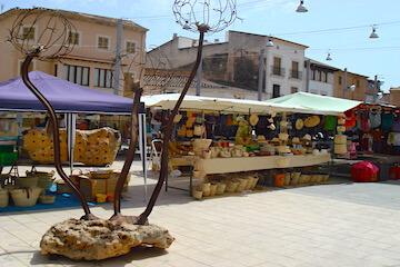 Marktstand am Samstag in Campos